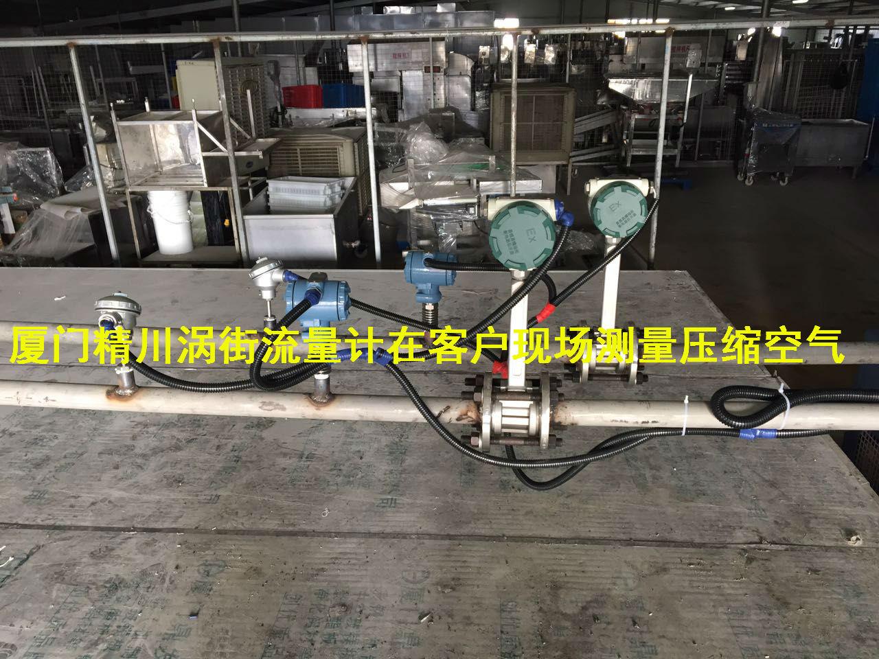 精川与食品厂合作压缩空气流量计测量效果让客户对精川刮目相看